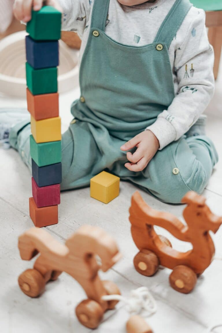 Photo of chid with blocks